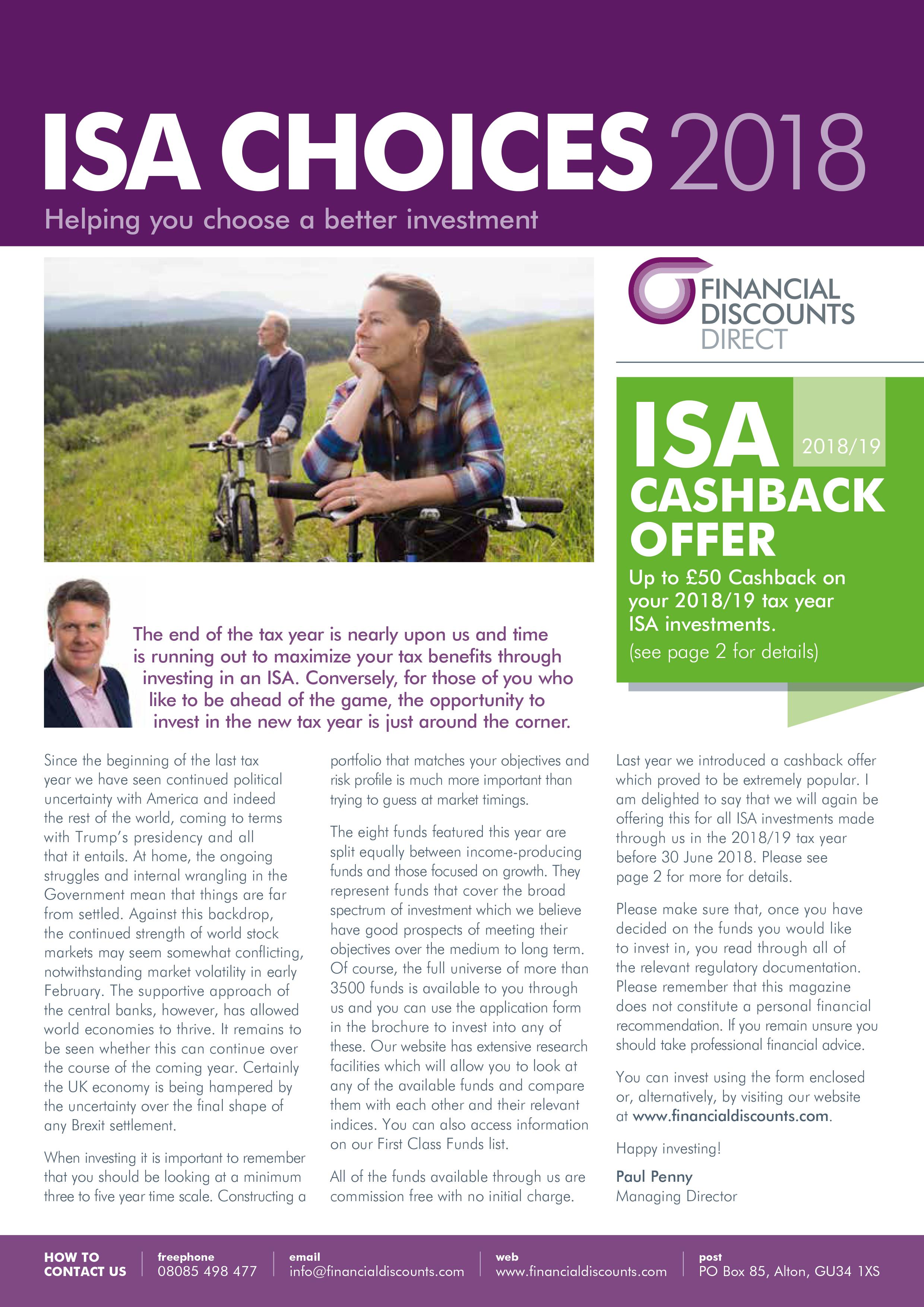 ISA Choices 2018